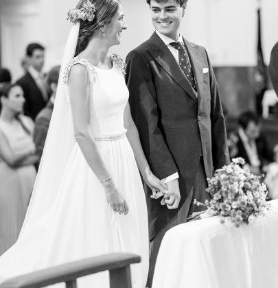 Vestido de novia Pol Núñez en la boda de Cristina y Jorge