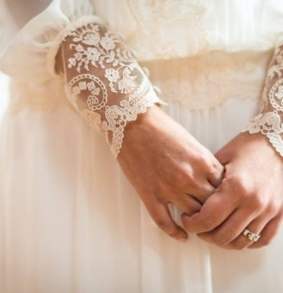 Laces in wedding dresses